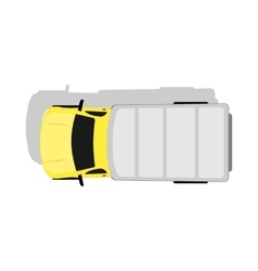 Car Van Top View Flat Design vector image