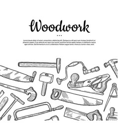carpentry background with place for text vector image