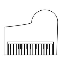 classic piano instrument vector image