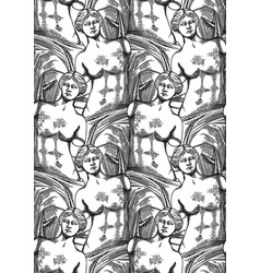 Classical pattern of venus de milo statue vector