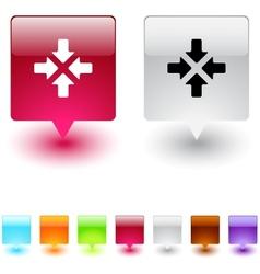Click here square button vector image