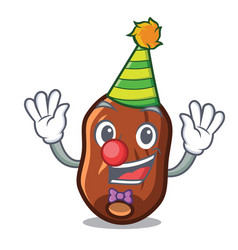Clown dates fruit mascot cartoon vector