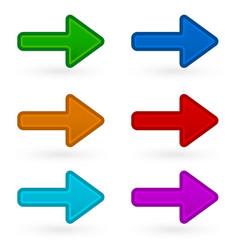 Colorful arrows vector
