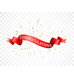 Congratulations sign letters banner with colorful vector