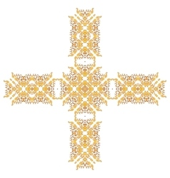 Cross Pattern Ornament vector image vector image
