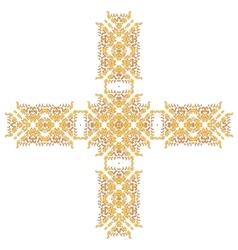 Cross Pattern Ornament vector