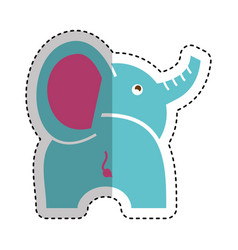 Cute baby elephant icon vector