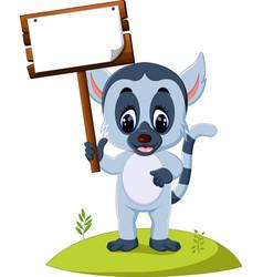 cute baby lemur vector image
