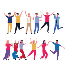 dancing people avatar vector image