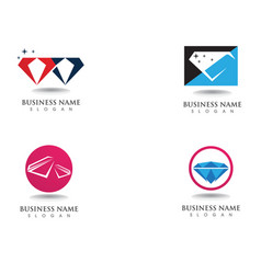 diamond logo symbol template icon vector image