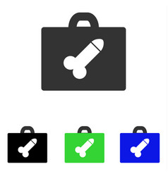 Dildo toolbox flat icon vector