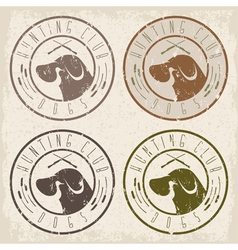 Duck hunting retriever negative space grunge vector
