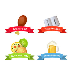 foot drinks culinary recipes vector image