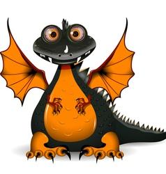 Funny black dragon vector
