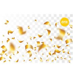 golden holiday confetti random falling vector image