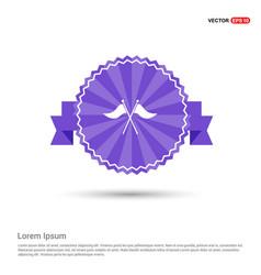 Golf flag icon - purple ribbon banner vector
