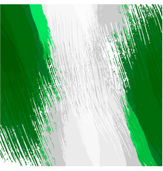 Grunge background in colors of nigerian flag vector