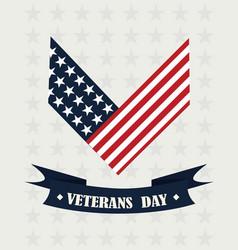 Happy veterans day american flag memorial vector