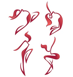 hot dance vector image