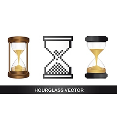 Hour glass icon vector