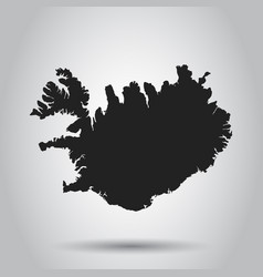Iceland map black icon on white background vector