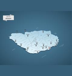isometric 3d uruguay map concept vector image