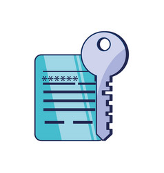 Key protection and document with password vector