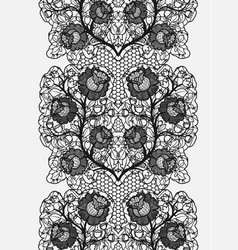 lace seamless belt with embroidered flowers vector image