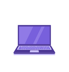 laptop icon on white background flat style vector image
