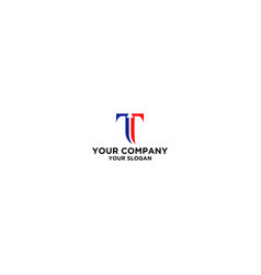 letter t with arrow logo design vector image