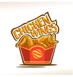 logo for chicken wings vector image