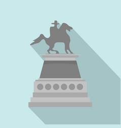 man at horse statue icon flat style vector image