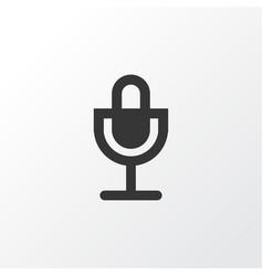 microphone icon symbol premium quality isolated vector image