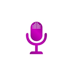 microphone web icon flat design vector image