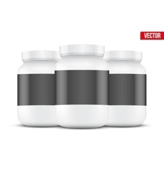 Mockup Background of Sport Nutrition Container vector image