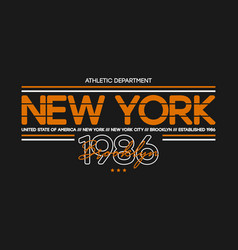 New york city athletic t-shirt design typography vector