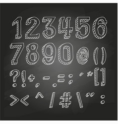 numbers and symbols on chalkboard vector image