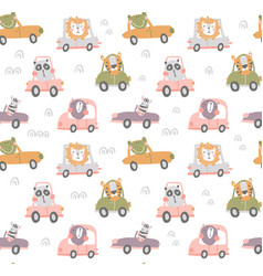 Nursery transport pattern vector