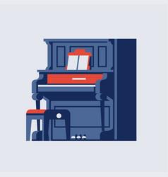 Old piano design element vector