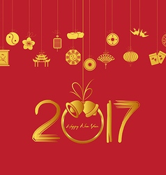 Oriental Happy Chinese New Year 2017 vector