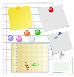 Paper set vector image