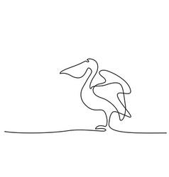 pelican minimalist symbol vector image