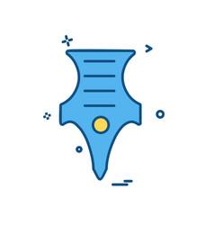 pen icon design vector image