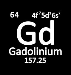 periodic table element gadolinium icon vector image