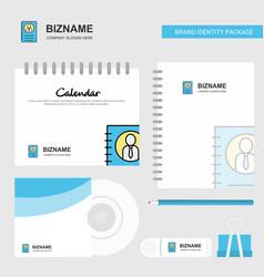 personal diary logo calendar template cd cover vector image