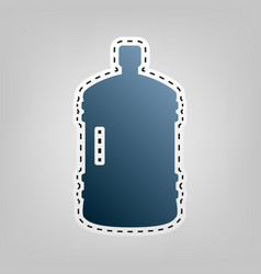 Plastic bottle silhouette sign blue icon vector