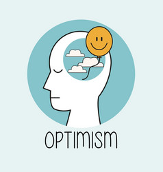 Profile human head optimism vector