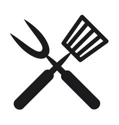 roasting utensil cutlery icon design vector image