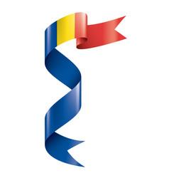 Romania flag on a white vector