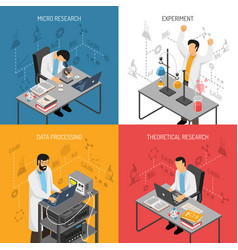 Science lab design concept vector